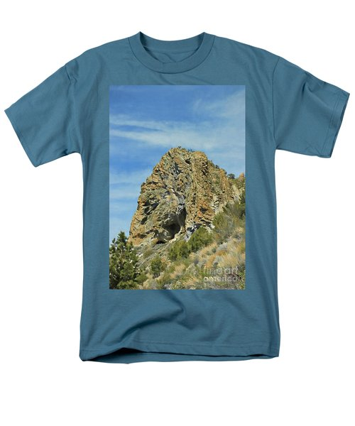 Men's T-Shirt  (Regular Fit) featuring the photograph Cave Rock At Tahoe by Benanne Stiens