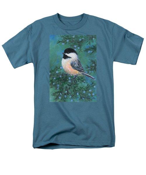 Men's T-Shirt  (Regular Fit) featuring the painting Cedar Chickadee 2 by Kathleen McDermott