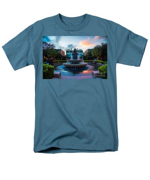 Charleston Pineapple Sunset Men's T-Shirt  (Regular Fit) by Robert Loe