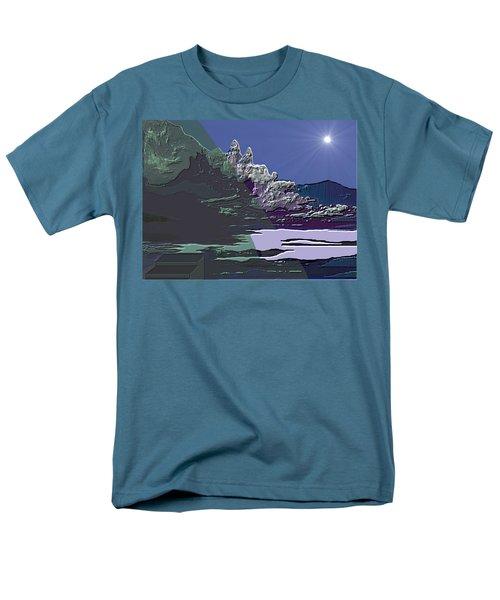 Men's T-Shirt  (Regular Fit) featuring the digital art 1978 - Nowhere  by Irmgard Schoendorf Welch