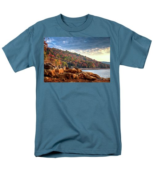 Men's T-Shirt  (Regular Fit) featuring the photograph Cherokee Lake Color II by Douglas Stucky