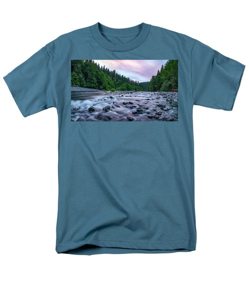Men's T-Shirt  (Regular Fit) featuring the photograph Chetco River Sunset 2 by Leland D Howard