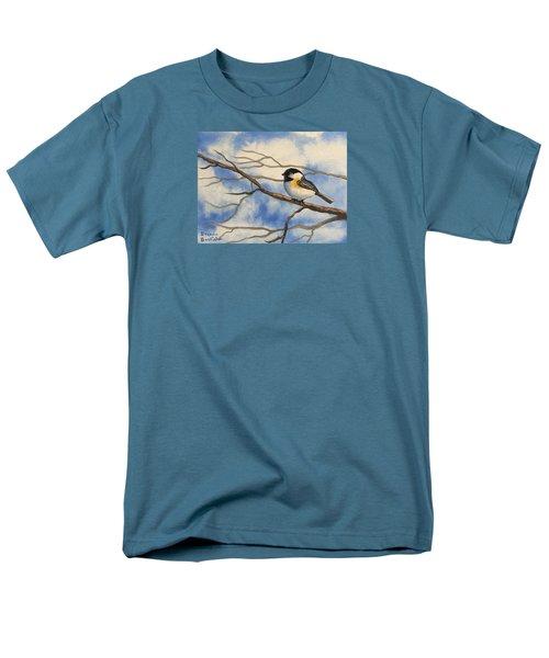 Chickadee On Branch Men's T-Shirt  (Regular Fit)