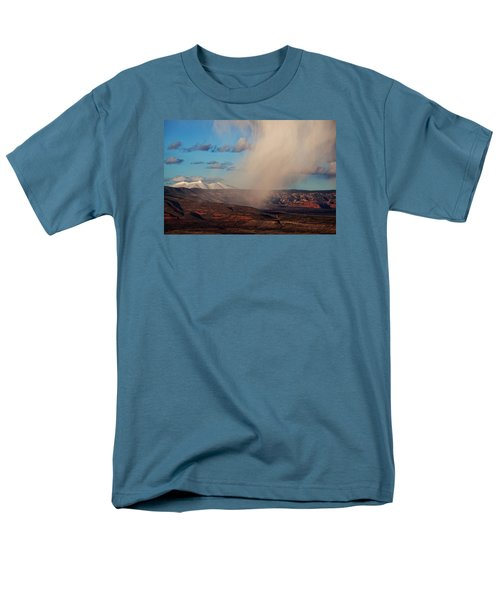Christmas Day Snow Mix San Francisco Peaks Men's T-Shirt  (Regular Fit) by Ron Chilston