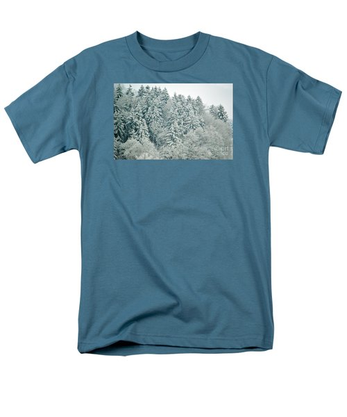 Men's T-Shirt  (Regular Fit) featuring the photograph Christmas Forest - Winter In Switzerland by Susanne Van Hulst