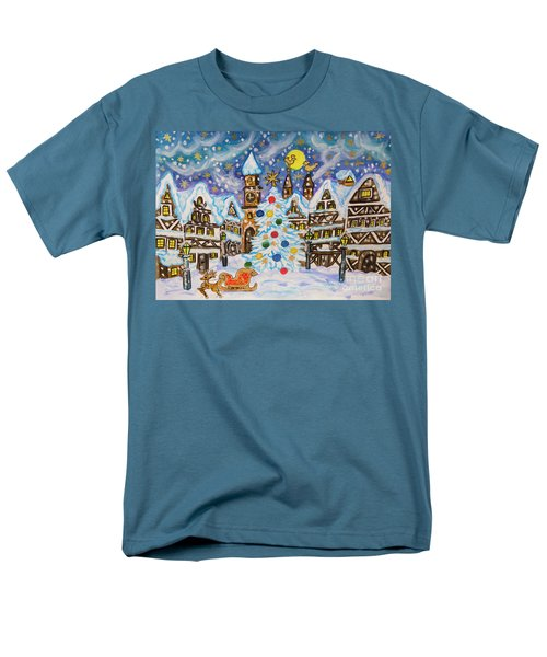Christmas In Europe Men's T-Shirt  (Regular Fit) by Irina Afonskaya