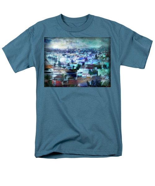 Cityscape #41 - Blue Whispers Men's T-Shirt  (Regular Fit) by Alfredo Gonzalez