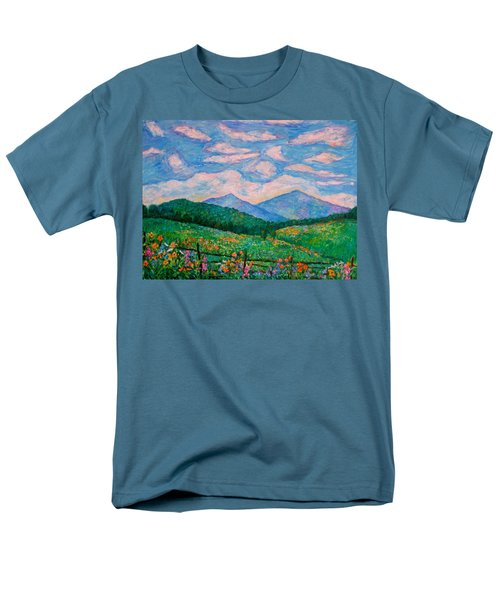 Cloud Swirl Over The Peaks Of Otter Men's T-Shirt  (Regular Fit) by Kendall Kessler