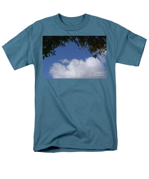 Clouds Framed By Tree Men's T-Shirt  (Regular Fit) by Nora Boghossian