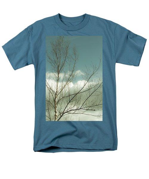 Cloudy Blue Sky Through Tree Top No 1 Men's T-Shirt  (Regular Fit) by Ben and Raisa Gertsberg