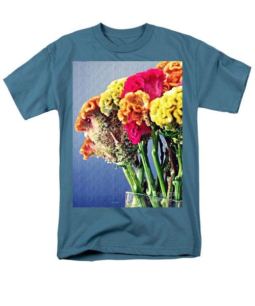 Men's T-Shirt  (Regular Fit) featuring the photograph Cockscomb Bouquet 2 by Sarah Loft