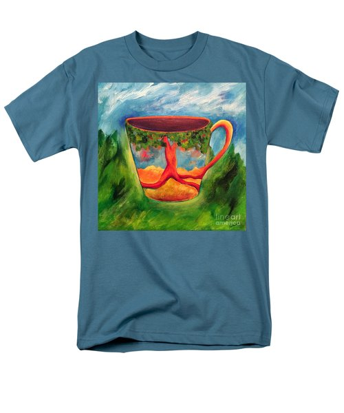 Coffee In The Park Men's T-Shirt  (Regular Fit) by Elizabeth Fontaine-Barr