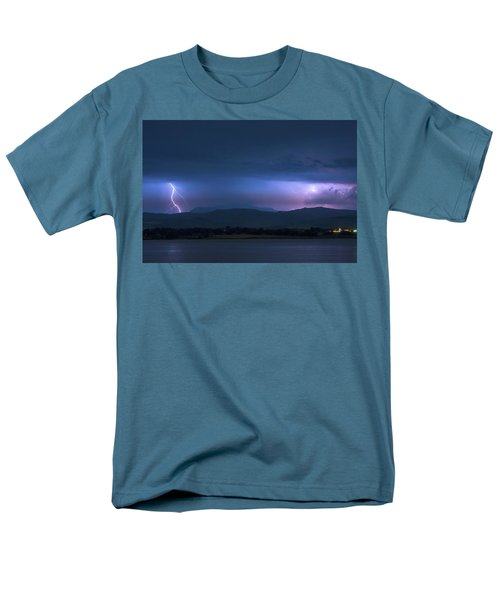 Men's T-Shirt  (Regular Fit) featuring the photograph Colorado Rocky Mountain Foothills Storm by James BO Insogna