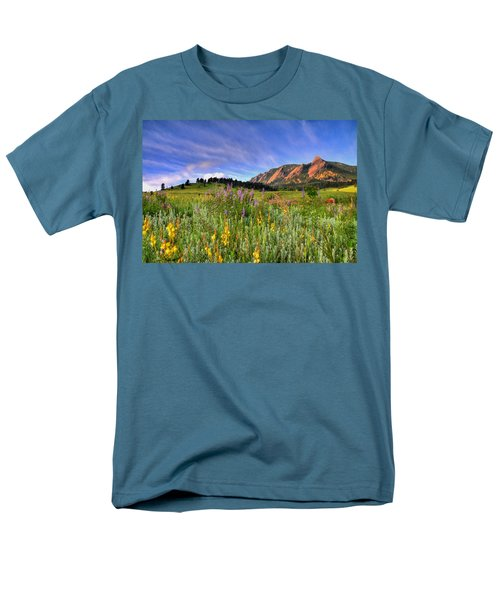 Colorado Wildflowers Men's T-Shirt  (Regular Fit) by Scott Mahon