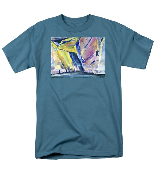 Colorful Cliffs And Cave Men's T-Shirt  (Regular Fit)