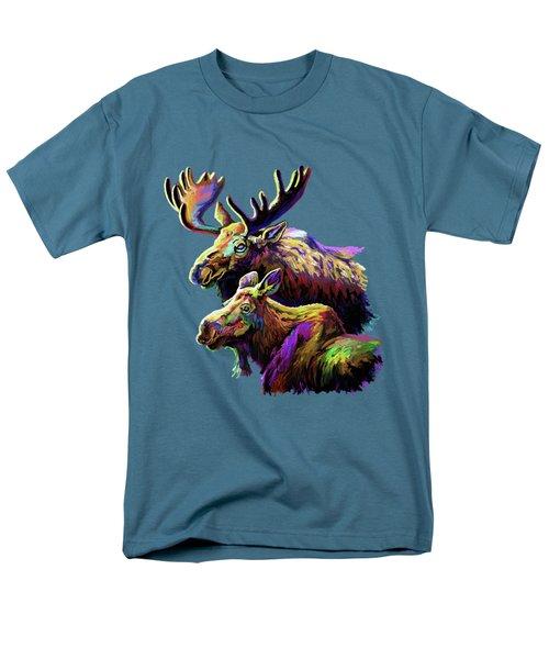 Colorful Moose Men's T-Shirt  (Regular Fit) by Anthony Mwangi