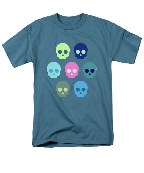 Colorful Skull Cute Pattern Men's T-Shirt  (Regular Fit) by Amir Faysal