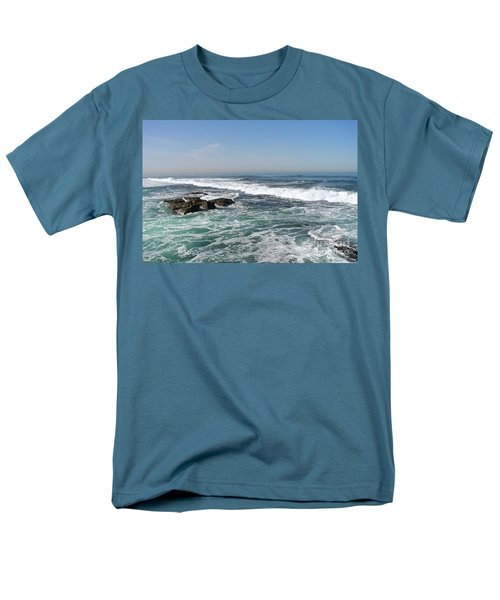 Men's T-Shirt  (Regular Fit) featuring the photograph Colors Of The Sea by Carol  Bradley