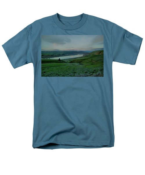 Men's T-Shirt  (Regular Fit) featuring the photograph Columbia Gorge In Early Spring by Jeff Swan