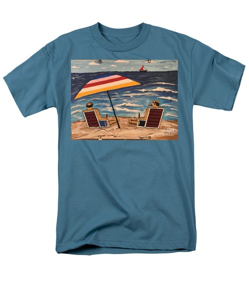 Men's T-Shirt  (Regular Fit) featuring the painting Comb Over Brothers by Jeffrey Koss