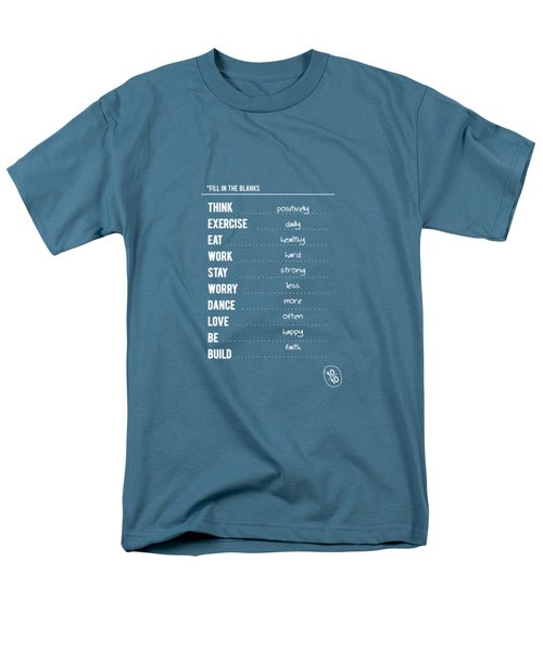 Combination Of All Type Of Typography Quotes Poster Men's T-Shirt  (Regular Fit) by Lab No 4 - The Quotography Department