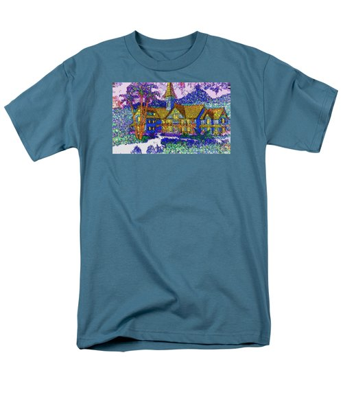 Men's T-Shirt  (Regular Fit) featuring the painting Comic Inn by Mario Carini