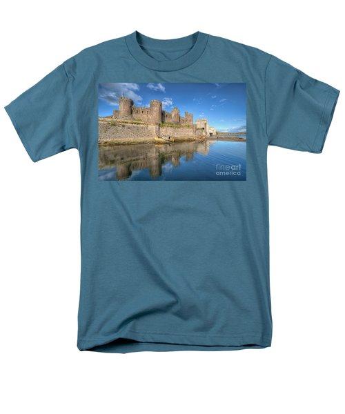 Conwy Castle Men's T-Shirt  (Regular Fit) by Adrian Evans