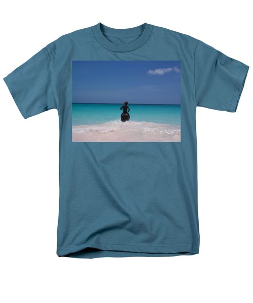 Men's T-Shirt  (Regular Fit) featuring the photograph Cool Off Man by Mary-Lee Sanders