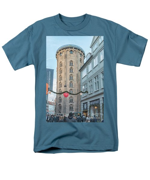 Men's T-Shirt  (Regular Fit) featuring the photograph Copenhagen Round Tower Street View by Antony McAulay