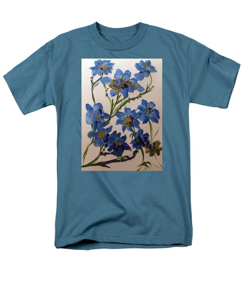Cornflowers Cousins Men's T-Shirt  (Regular Fit) by Judith Desrosiers