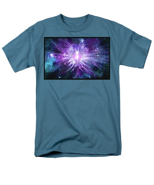 Cosmic Heart Of The Universe Mosaic Men's T-Shirt  (Regular Fit) by Shawn Dall