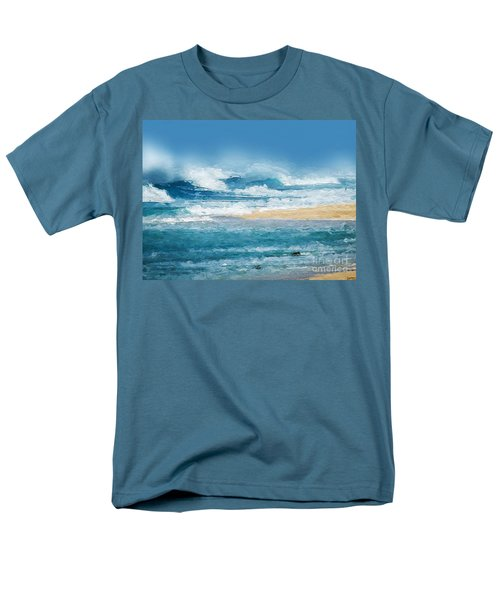 Crashing Waves Men's T-Shirt  (Regular Fit) by Anthony Fishburne