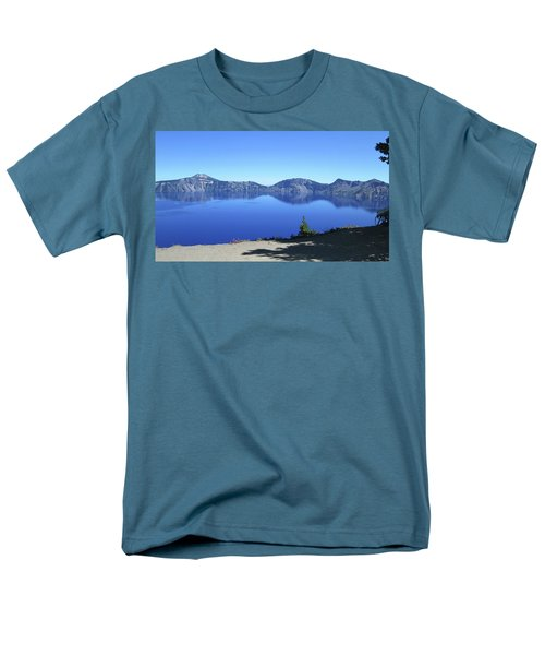 Men's T-Shirt  (Regular Fit) featuring the photograph Crater Lake by Tony Mathews