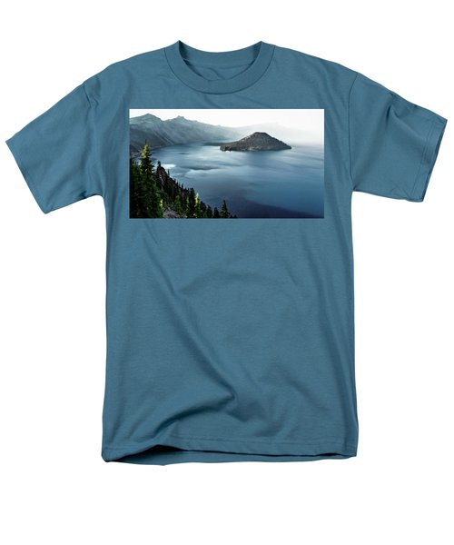 Men's T-Shirt  (Regular Fit) featuring the photograph Crater Lake Under A Siege by Eduard Moldoveanu