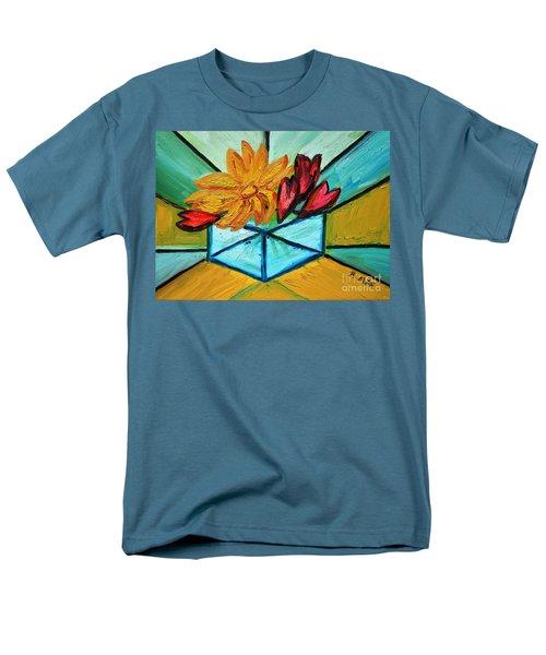 Cubes Men's T-Shirt  (Regular Fit) by Ramona Matei