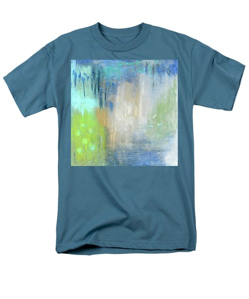 Men's T-Shirt  (Regular Fit) featuring the painting Crystal Deep  by Michal Mitak Mahgerefteh