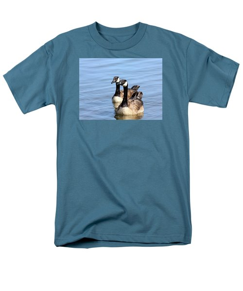 Men's T-Shirt  (Regular Fit) featuring the photograph Curious Canda Geese by Sheila Brown