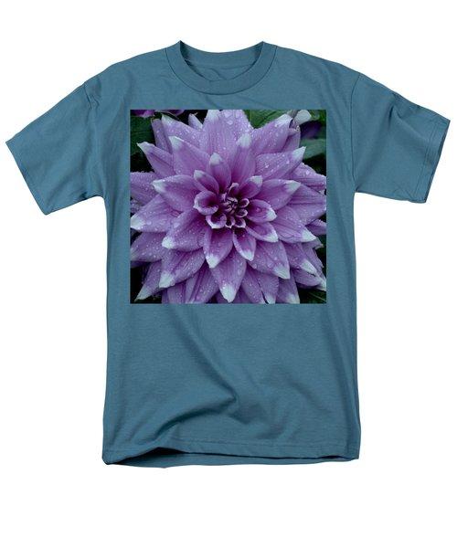 Dahlia In Rain Men's T-Shirt  (Regular Fit) by Shirley Heyn