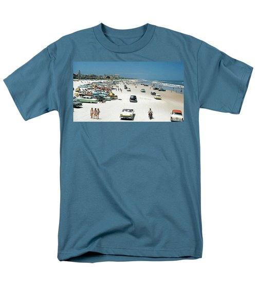 Daytona Beach Florida - 1957 Men's T-Shirt  (Regular Fit) by Merton Allen