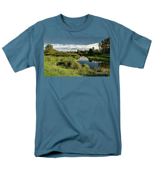 De Boville Slough At Pitt River Dike Men's T-Shirt  (Regular Fit) by Rod Jellison