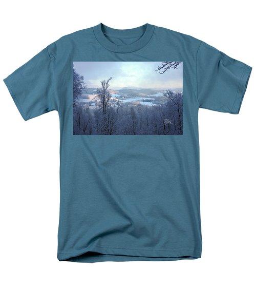 Deer Valley Winter View Men's T-Shirt  (Regular Fit) by Meta Gatschenberger