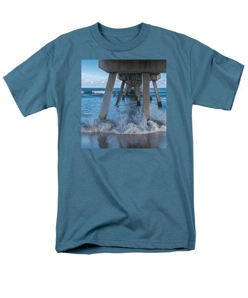 Men's T-Shirt  (Regular Fit) featuring the photograph Deerfield Pier by Arlene Carmel