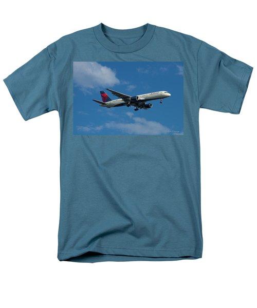 Delta Air Lines 757 Airplane N668dn Men's T-Shirt  (Regular Fit) by Reid Callaway