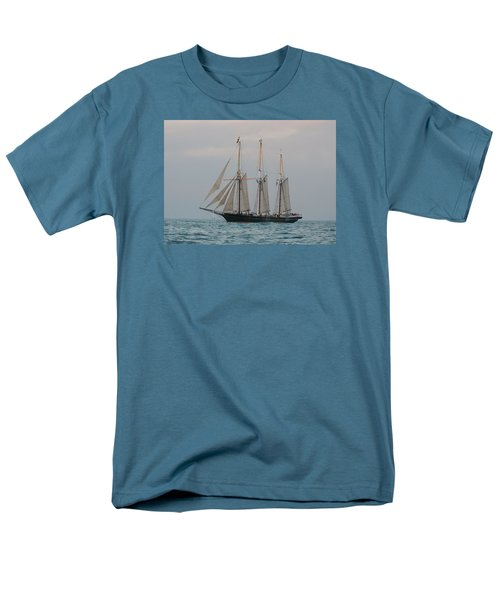 Men's T-Shirt  (Regular Fit) featuring the photograph Denis Sullivan Out On An Evening Sail by Janice Adomeit