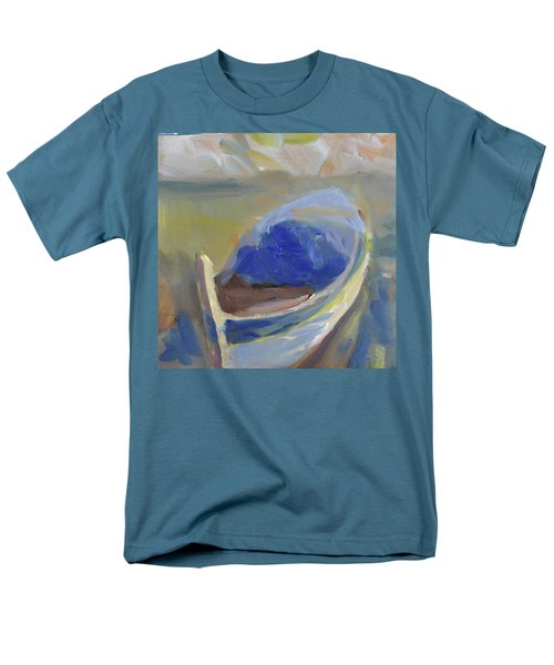 Men's T-Shirt  (Regular Fit) featuring the painting Derek's Boat. by Julie Todd-Cundiff