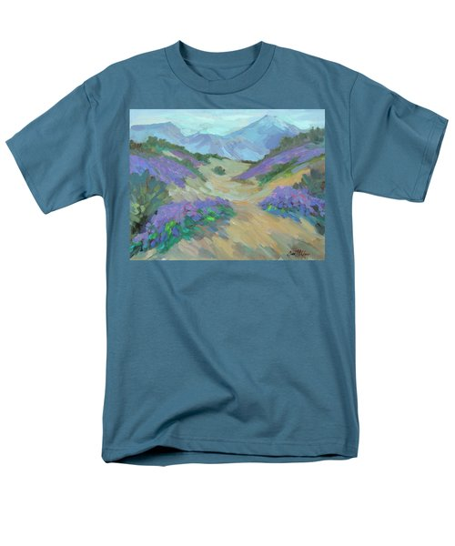 Men's T-Shirt  (Regular Fit) featuring the painting Desert Verbena by Diane McClary
