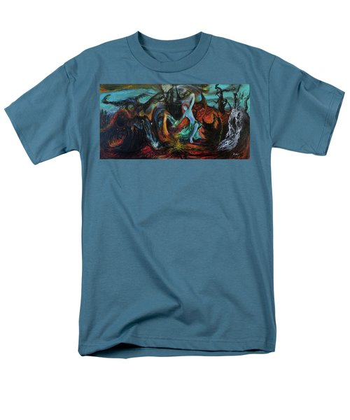 Men's T-Shirt  (Regular Fit) featuring the painting Devils Gorge by Christophe Ennis