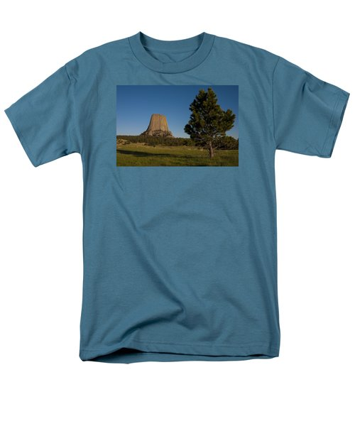 Men's T-Shirt  (Regular Fit) featuring the photograph Devil's Tower by Gary Lengyel