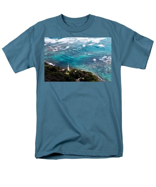 Diamond Head Lighthouse Men's T-Shirt  (Regular Fit) by Steven Sparks