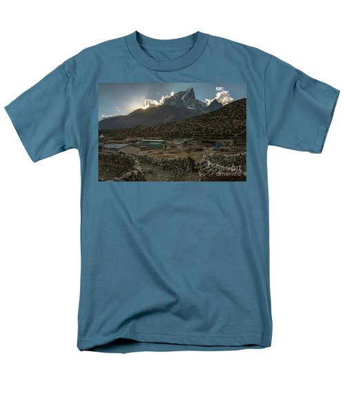 Men's T-Shirt  (Regular Fit) featuring the photograph Dingboche Evening Sunrays by Mike Reid